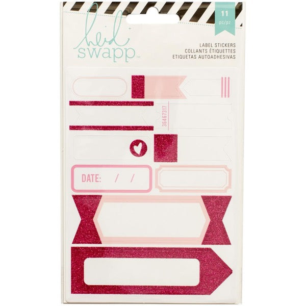 Heidi Swapp Label Stickers - Pink