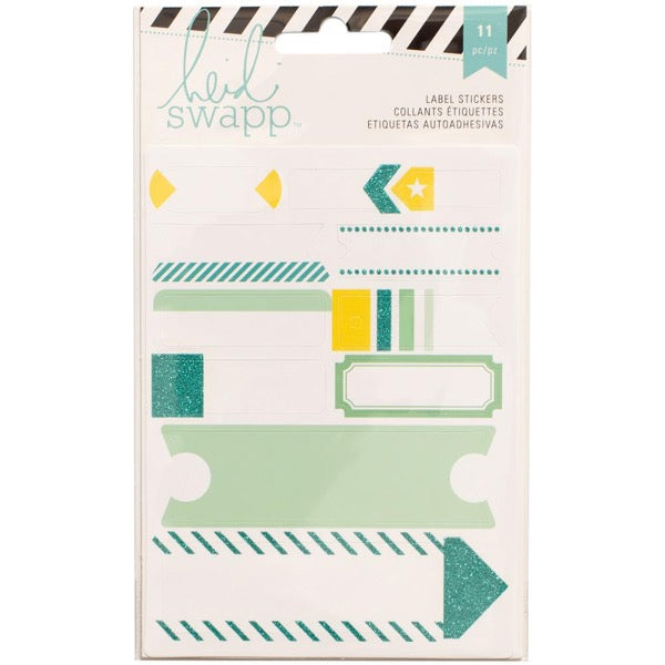 Heidi Swapp Label Stickers - Teal