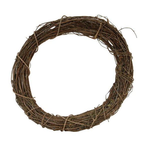 Grapevine Rattan Wreath - 10 inches