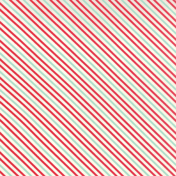 Hello Darling - Red & Aqua Stripe