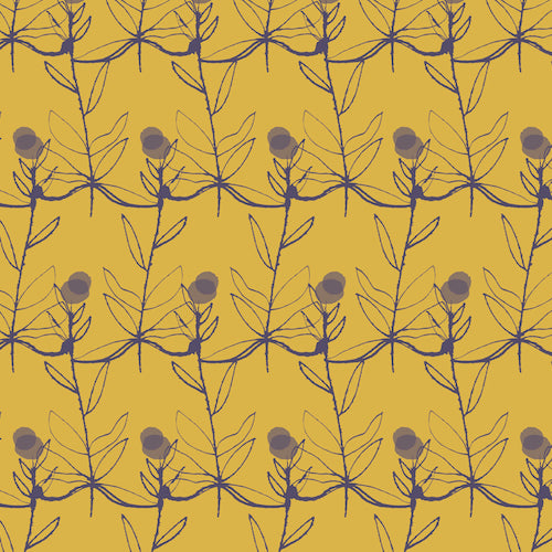Autumn Rain - Dashwood Studio - Flowers Mustard