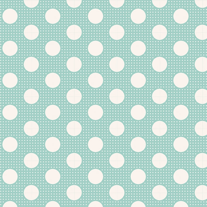 Tilda Basics - Medium Dots Teal