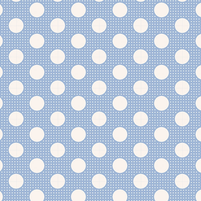 Tilda Basics - Medium Dots Blue