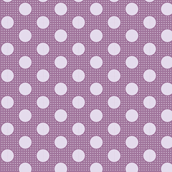 Tilda Basics - Medium Dots Lilac