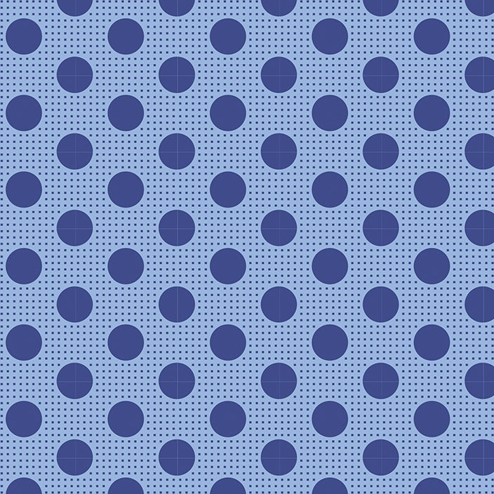 Tilda Basics - Medium Dots Denim Blue