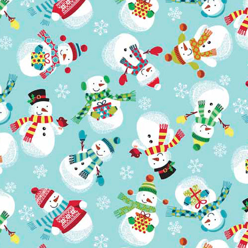 Frosty - Snowmen Light Blue