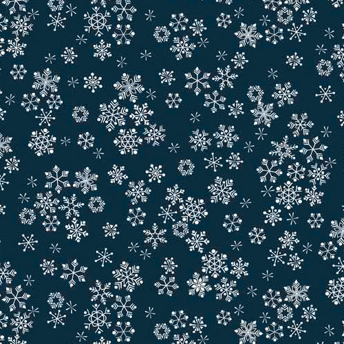 Frosty - Snowflakes Midnight Blue