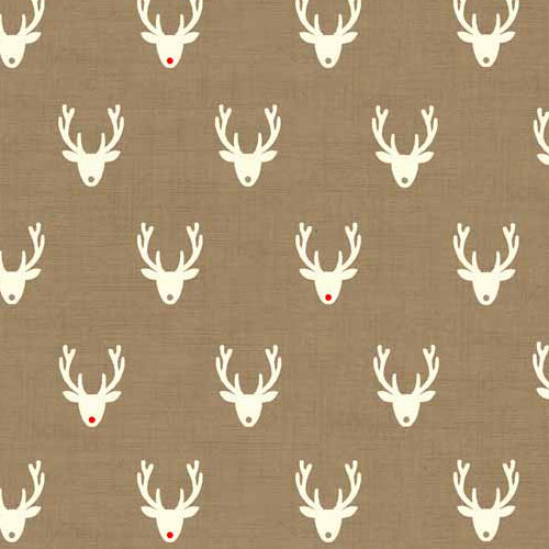Scandi 3 - Makower - Stags Hessian