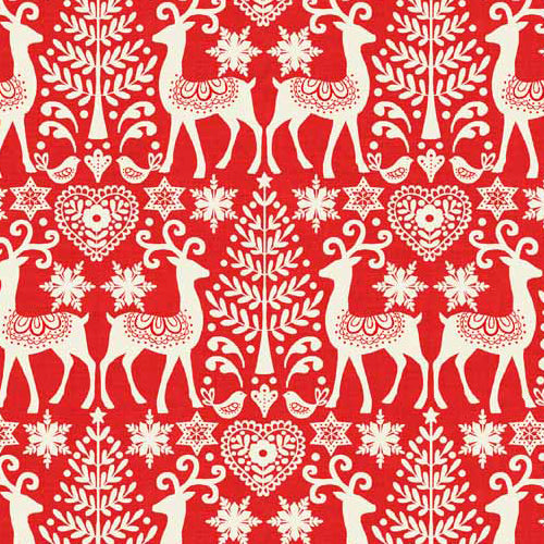 Scandi 3 - Makower - Reindeer Red