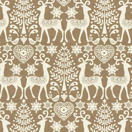 Scandi 3 - Makower - Reindeer Hessian
