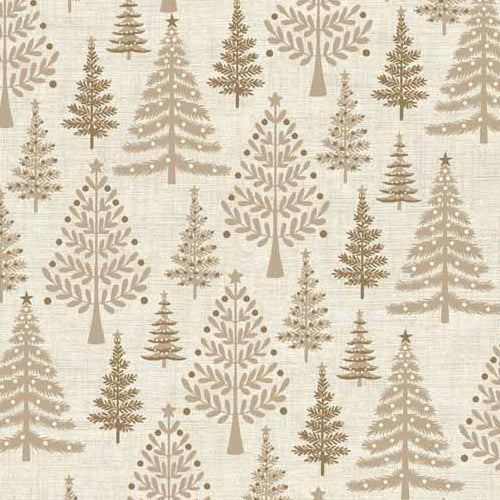 Scandi 3 - Makower - Trees Hessian