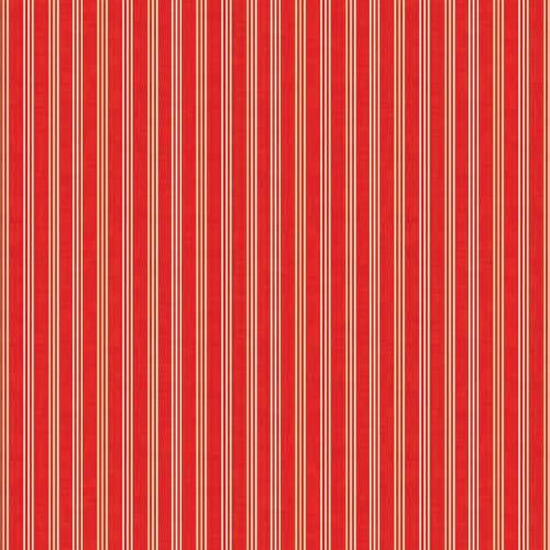 Scandi Basics - Makower - Triple Stripe Red