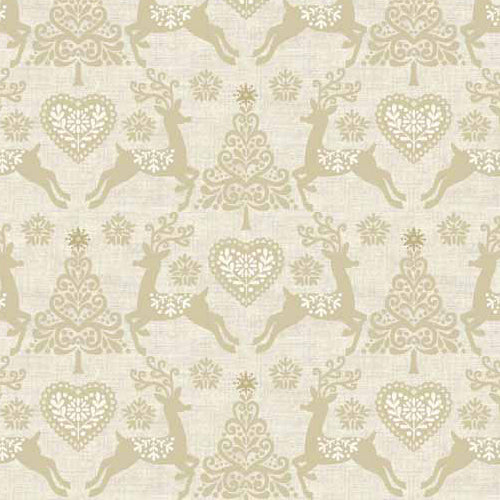 Scandi 4 - Makower - Set Reindeer Cream