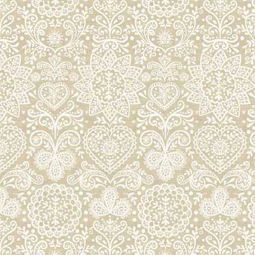 Scandi 4 - Makower - Scandi Lace Cream