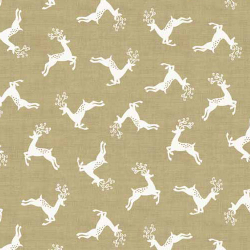 Scandi 4 - Makower - Scandi Deer Scatter Cream