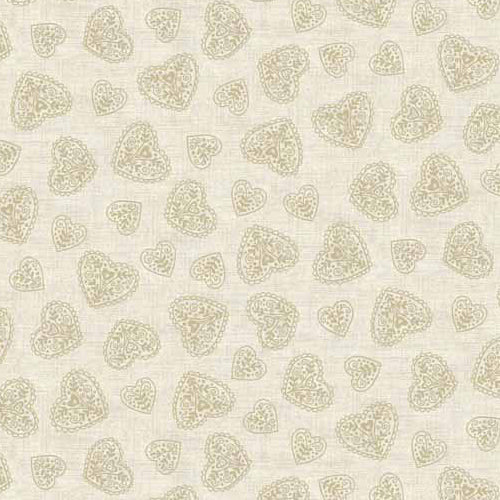 Scandi 4 - Makower - Scandi Hearts Cream