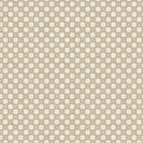 Scandi Basics - Makower - Scandi Snowflakes Cream on Taupe