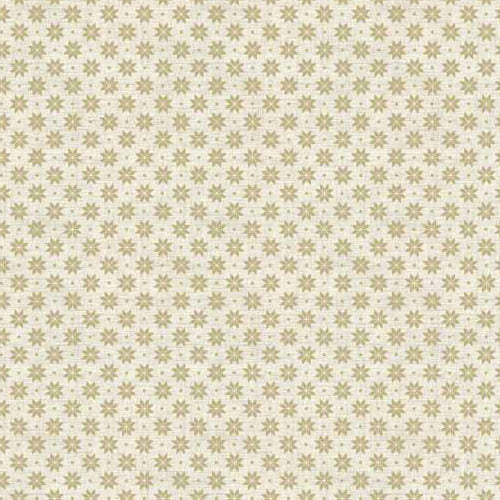 Scandi Basics - Makower - Scandi Snowflakes Taupe on Cream