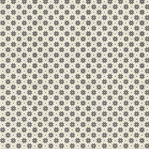 Scandi Basics - Makower - Scandi Snowflakes Grey on Cream
