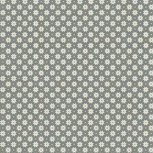 Scandi Basics - Makower - Scandi Snowflakes Cream on Grey