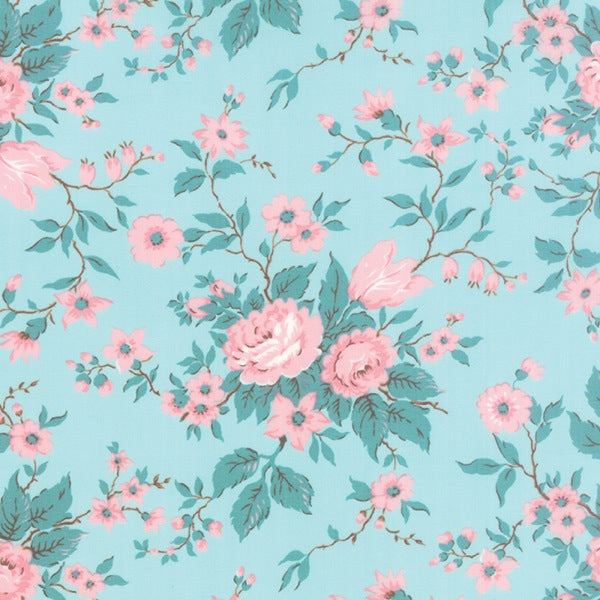 Aqua Antique Floral - Kindred Spirit