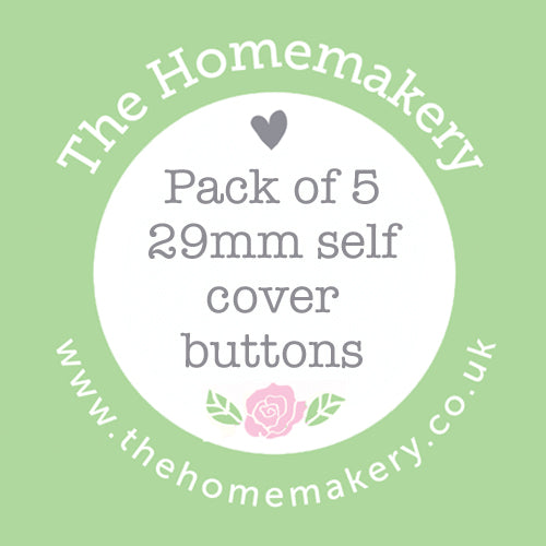 Self cover buttons - 29mm