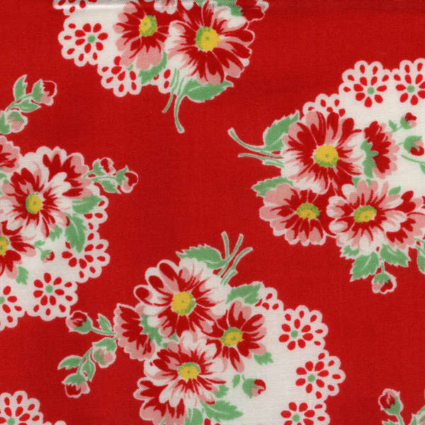 Lecien Old New 30's - Red Doily Flower