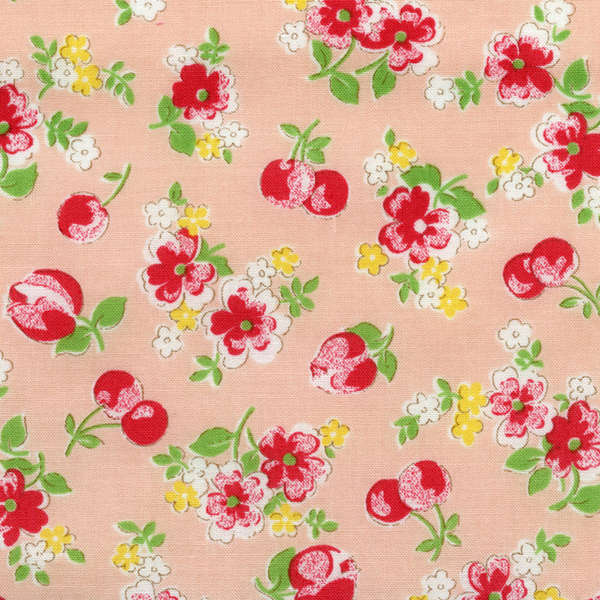 Lecien Old New 30's - Peachy Pink Cherry Blossom