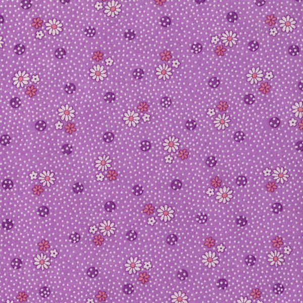 Lecien Old New 30's - Lavender Daisy Dots