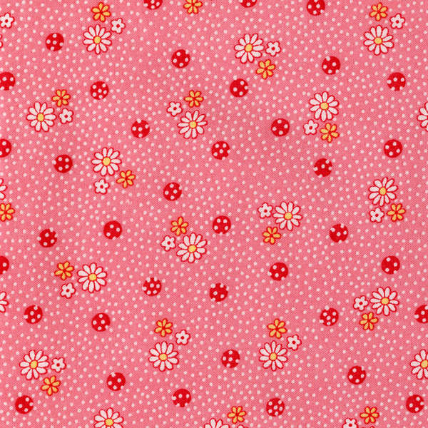 Lecien Old New 30's - Pink Daisy Dots
