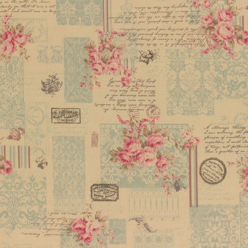 Lecien - Antique Rose 2014 - Rose Script