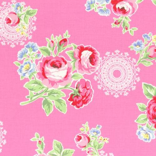 Lecien Flower Sugar - Doily Rose Pink