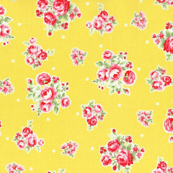Lecien Flower Sugar - Border Rose Yellow