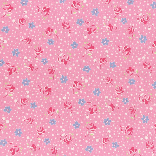 Lecien - Retro 30's Child Smile - Pressed Flowers - Pink