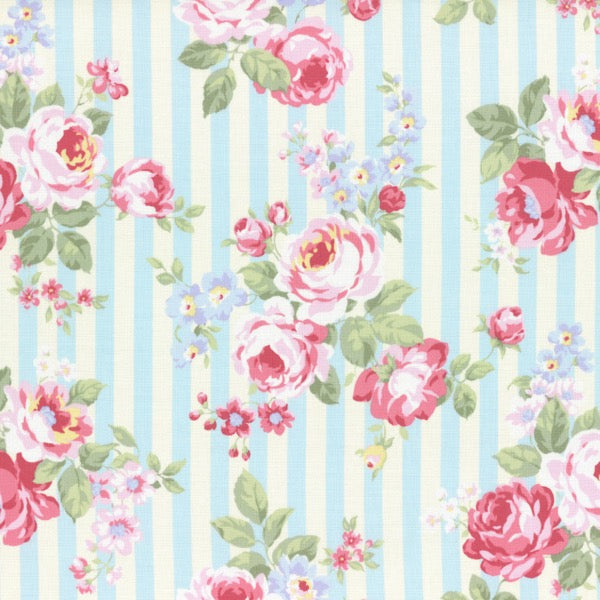 Lecien - Princess Rose - Rose Stripe - Blue