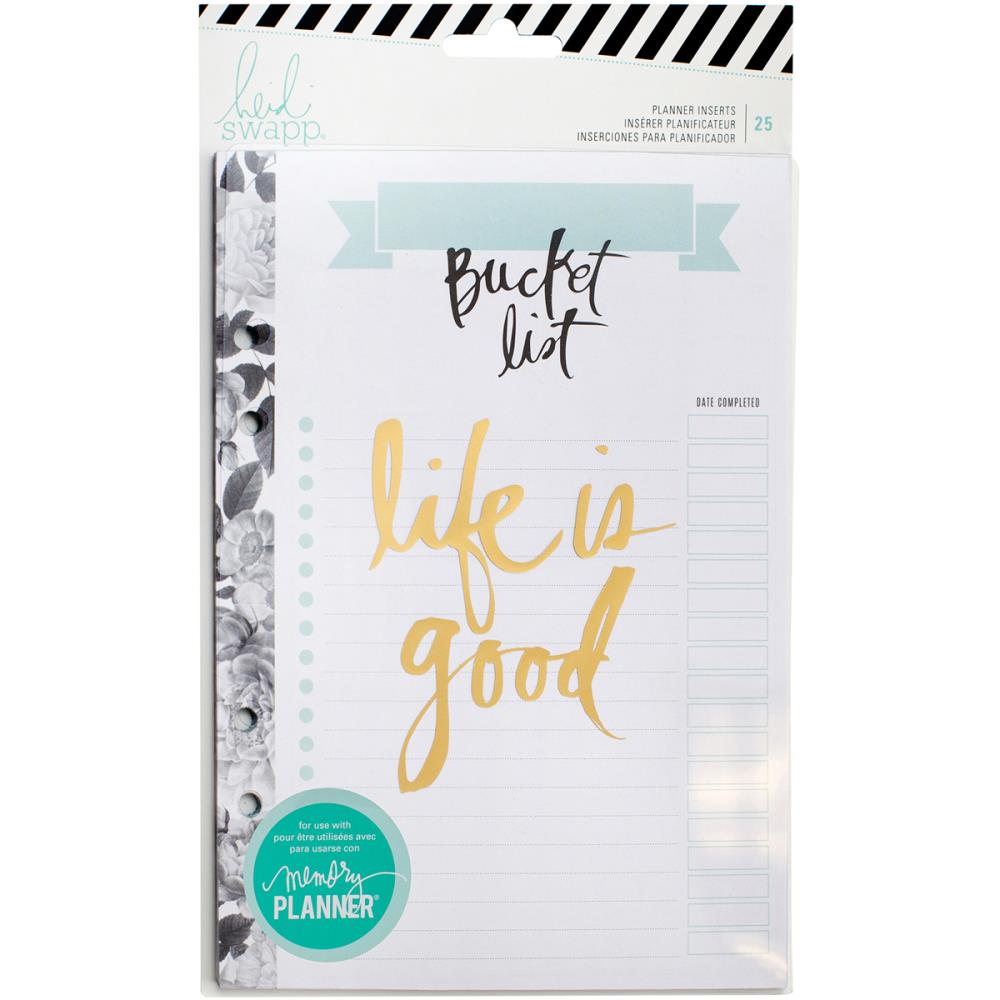 Heidi Swapp Personal Memory Planner - Large Bucket List Inserts