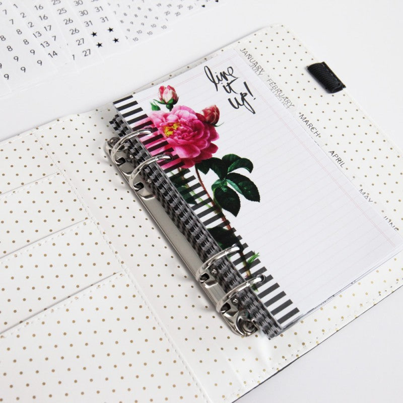 Heidi Swapp Memory Planner: Black & White Stripes
