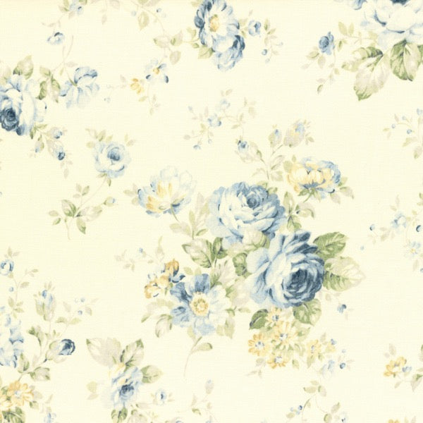 Lecien Durham 2016 - Large Blue on Cream Floral