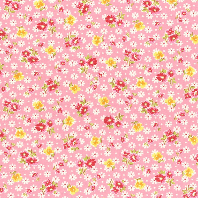 Lecien Old New 30's 2017 - Pink Daisies
