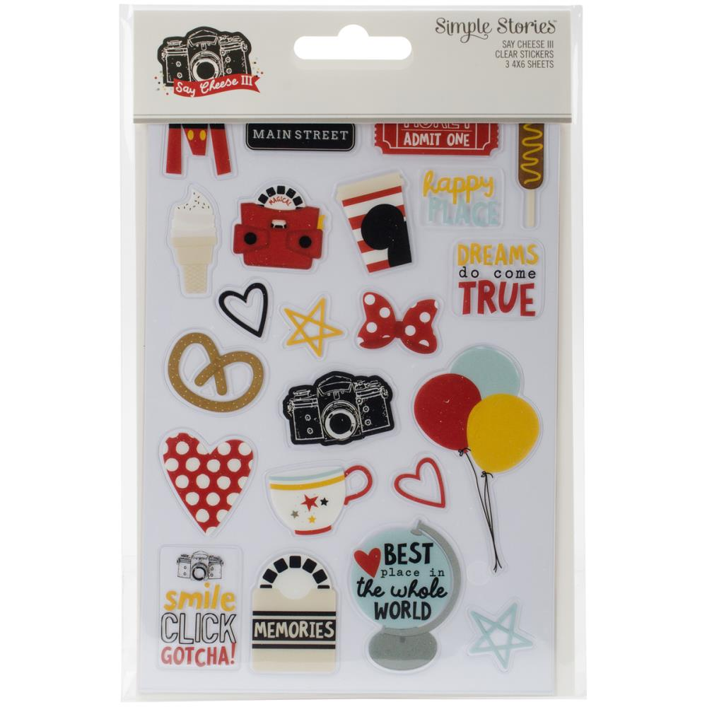 Simple Stories - Say Cheese Clear Stickers