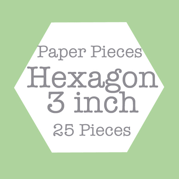 Paper Pieces - Hexagon 3 inch