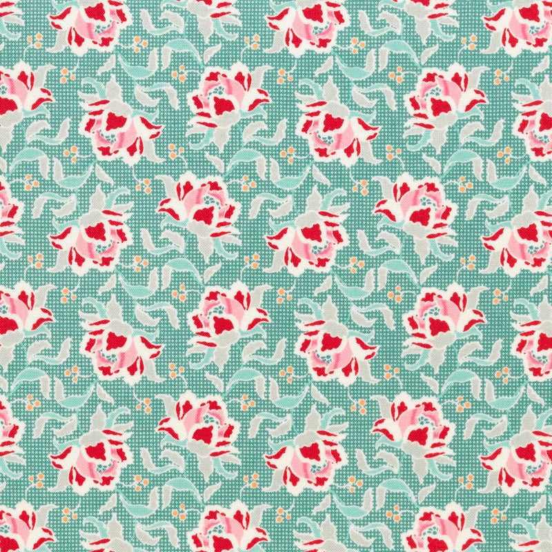 Tilda Circus - Clown Flower Teal