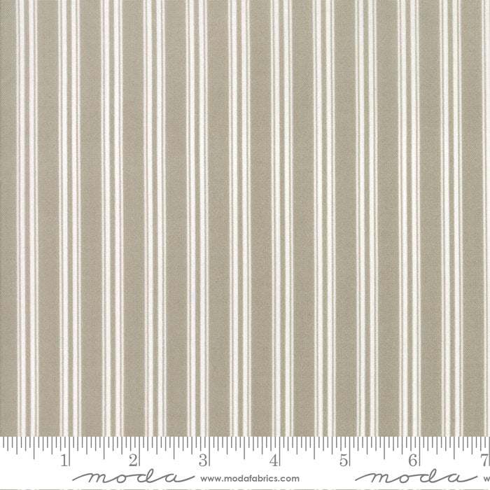 Darling Little Dickens - Toast Ticking Stripe