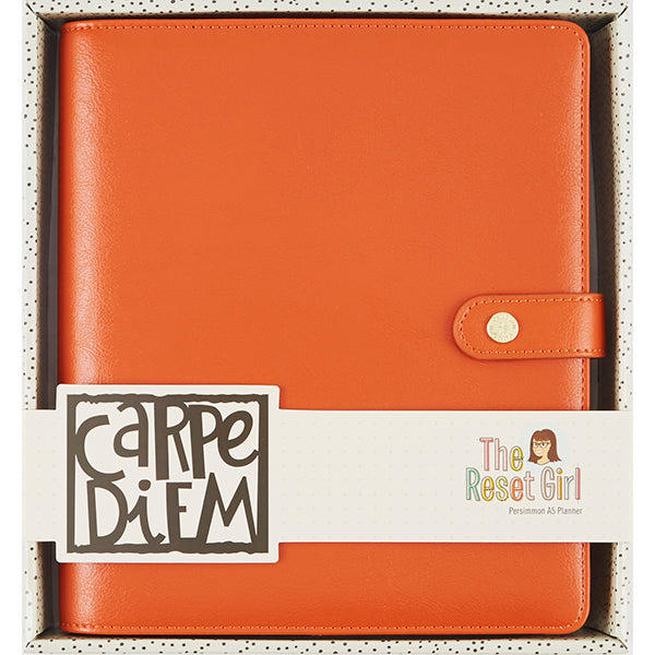 The Reset Girl Carpe Diem A5 Planner - Persimmon