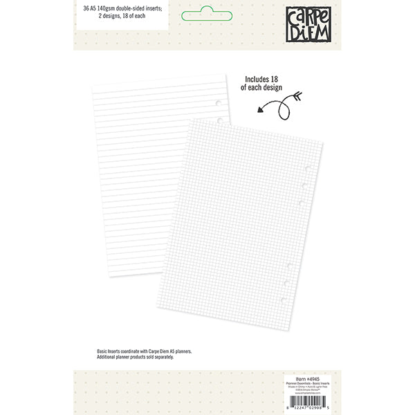 Carpe Diem Planner Essentials - Basic Paper Inserts
