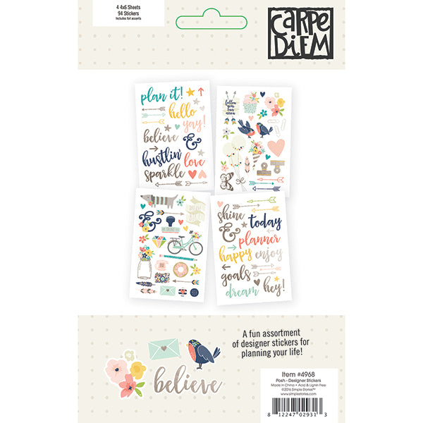 Carpe Diem Posh - Designer Stickers