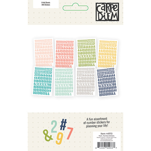 Carpe Diem Posh - Number Stickers