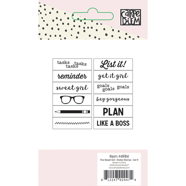Carpe Diem Reset Girl - Roller Stamp - List It