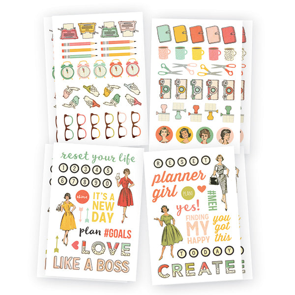 Carpe Diem Reset Girl - Icon Stickers
