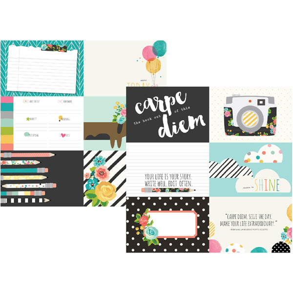 Carpe Diem Paper -   4x6 Horizontal Elements